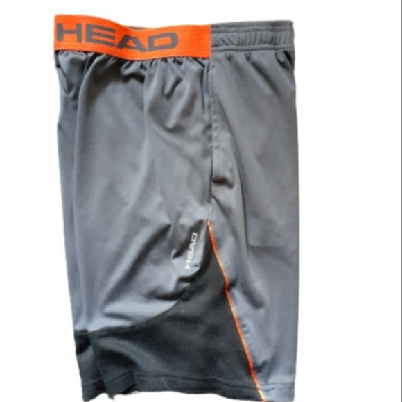 Head Shorts (Boys XL in Gray/Black)